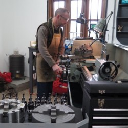 Chris on lathe